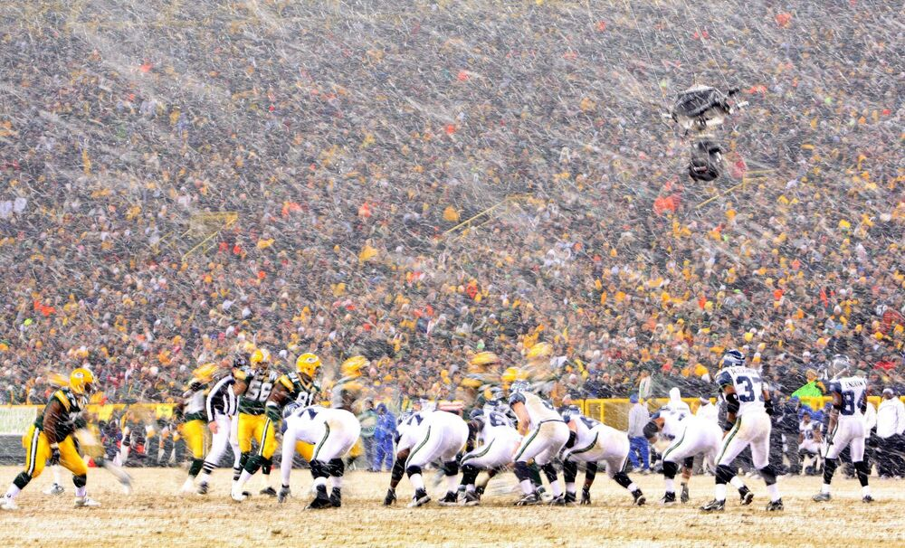 Lambeau Field Green Bay Packers Schneesturm